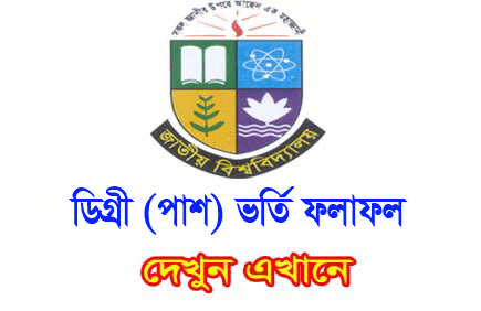 Degree Admission Result 2018-19,National University Degree Admission Result 2018