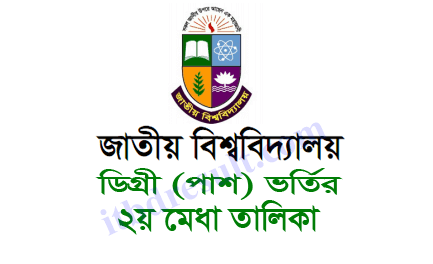 NU Degree Admission 2nd Merit Result 2020