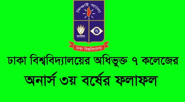 DU 7 College Honours 3rd Year Result 2019