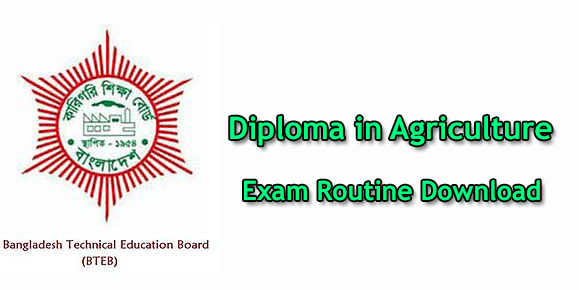 Diploma in Agriculture Routine 2019
