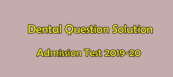 Dental Question Solution 2021