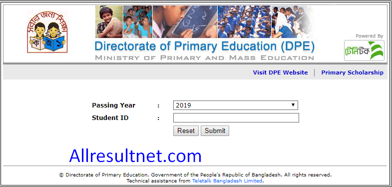 PSC Result 2019 Online