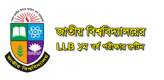 LLB 1st Year Routine 2021
