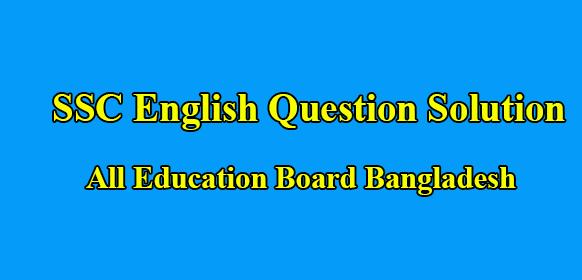 SSC English 1st Paper Answer 2020