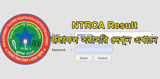 NTRCA Result 2021 Published