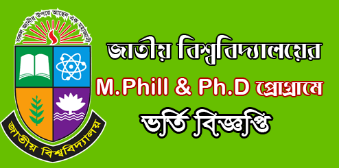 National University M Phill PHD Admission 2021