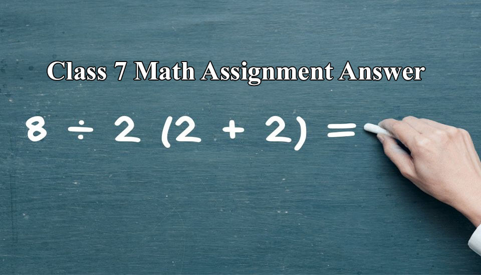 Class 7 Math Assignment Answer 2020