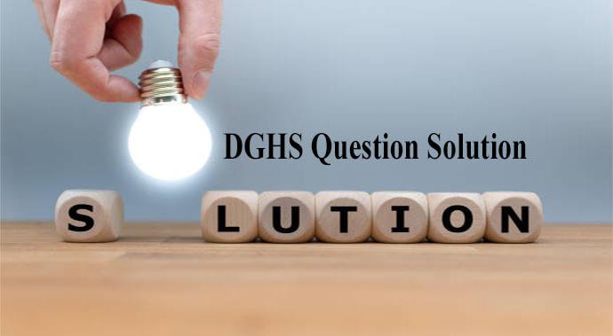 DGHS Question Solution 2020