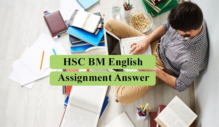 HSC BM English Assignment Answer 2021