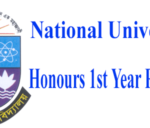 Honours 1st Year Routine 2021