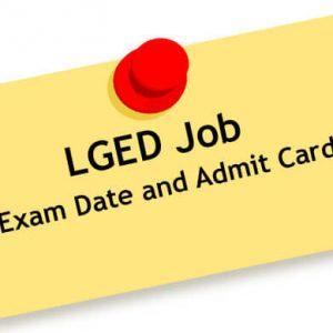 LGED Admit Card 2021