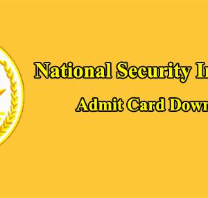 NSI Admit Card 2021