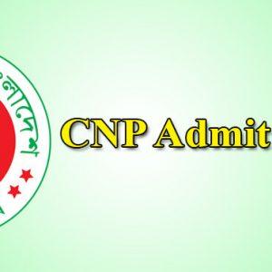 CNP Admit Card 2021