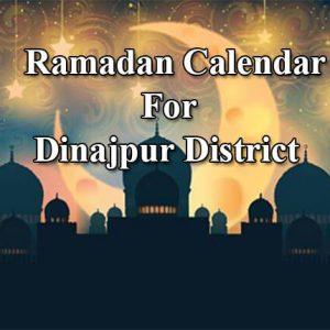 Dinajpur Ramadan Timings 2021