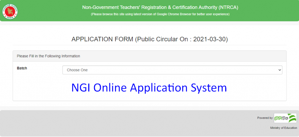 NGI Online Application 2021