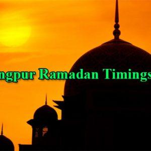 Rangpur Ramadan Timings 2021