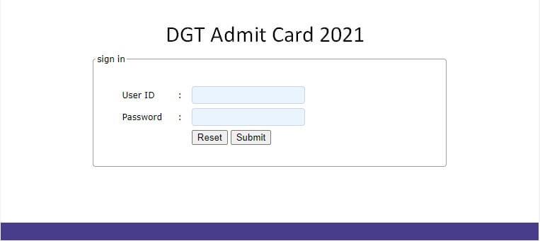 DGT Admit Card 2021