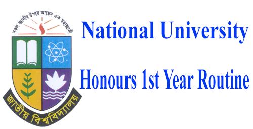 Honours 1st Year Exam Routine 2021