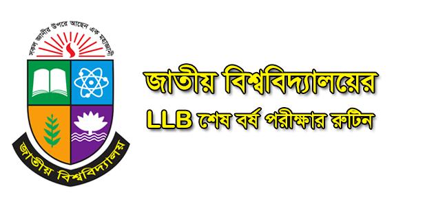 LLB Final Year Routine 2021